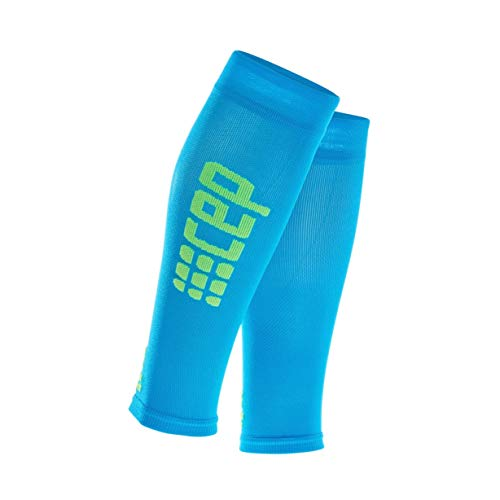 CEP Men's Calf Compression Running Sleeves Ultralight Calf (Red/Green) IV