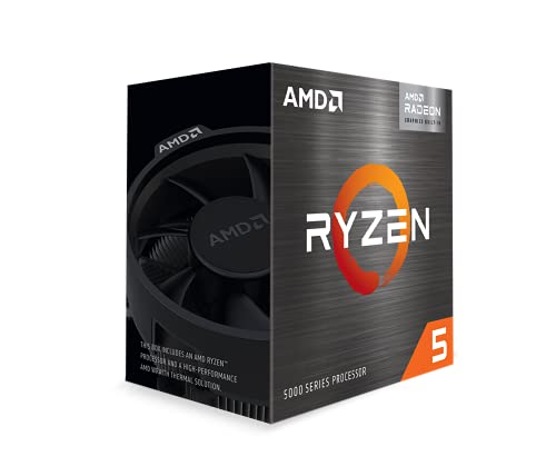 AMD Ryzen™ 5 5600G Desktop Processor (6-core/12-thread, 19MB Cache, up to 4.4 GHz max Boost) with Radeon™ Graphics