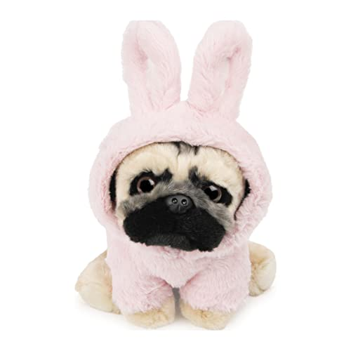 GUND Doug The Pug Fuzzy Pink Bunny Hoodie Doug for Ages 1 &Up, Pink, 9â€Â