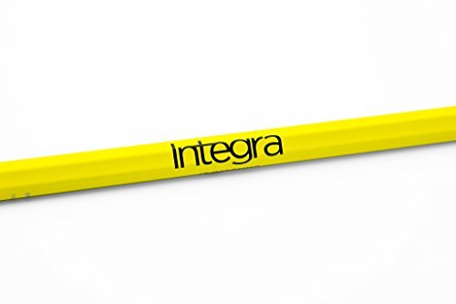 Epoch Dragonfly Integra Lacrosse Shaft for Attack/Midfield, 30', Soft-Flex iQ9 with Removable End Cap, C30, Technocolor Yellow