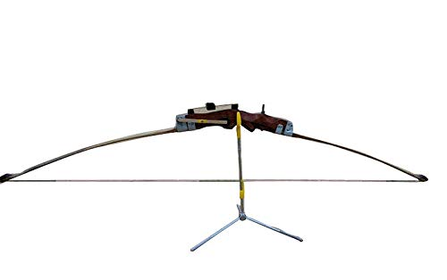 Avid Archery Indian Bow (Right Handed), Cane Arrows, Bow String, Bow Stand, Archery Bag, Arm Guard, Chest Guard and Finger Tab -Indian Archery Complete Kit for Men and Women