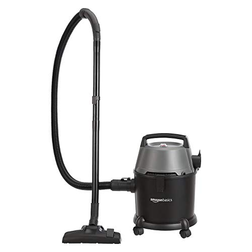 AmazonBasics Wet and Dry Vacuum Cleaner with Power Suction, Low Sound, High Energy Efficiency and 1 Year Warranty (15L, Plastic Body)