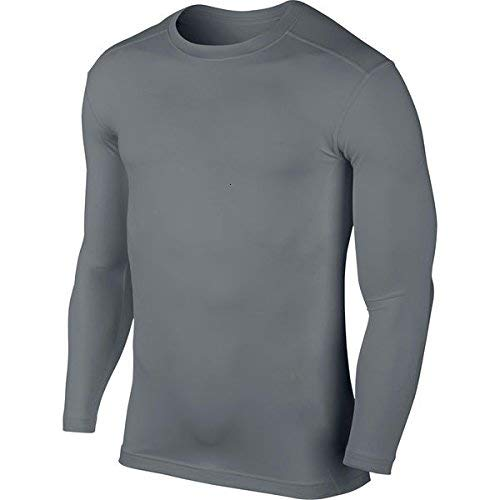 KD Willmax Compression Top Full Sleeve Plain Grey X Small Athletic Fit Multi Sports Cycling, Cricket, Football, Badminton, Gym, Fitness & Other Outdoor Inner Wear