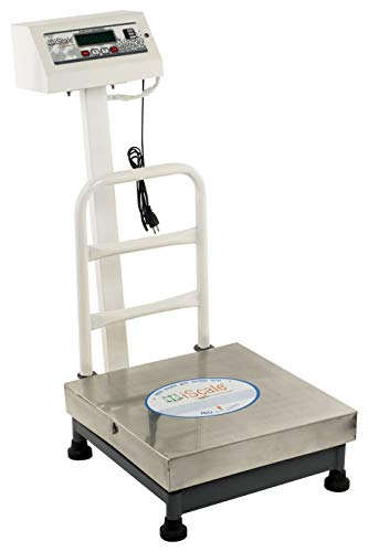 iScale 50 kg Capacity, Digital Commercial Store Platform Weighing Machine Pan Size 14 x 14 inches with Double Front and Back Display, White