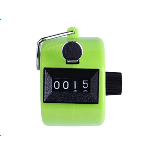 ADD GEAR Resettable Lap Counter 4 Digit Counting Machine Heavy Duty Manual Click Pooja Mantra Jap Tasbeeh Chanting Finger Counter Tally (Green)