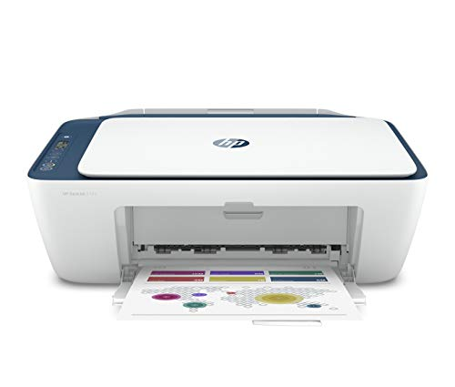 HP Deskjet 2723 WiFi Colour Printer, Scanner and Copier for Home/Small Office, Dual-Band Wi-Fi, Voice Activated Printing (Google Home and Alexa), Easy Set-up Through HP Smart App on Your Mobile