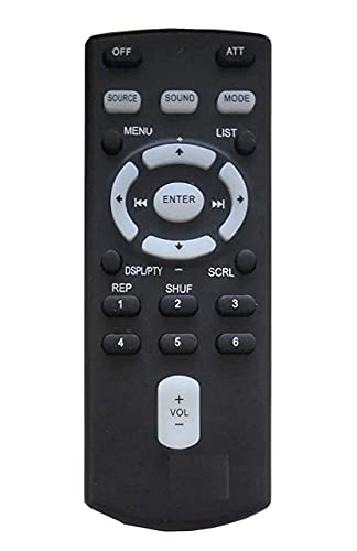 MIRACLES IN HAND® Remote Compatible with Sony RM-X155 RM-X153 CAR Stereo Remote Control (Black)