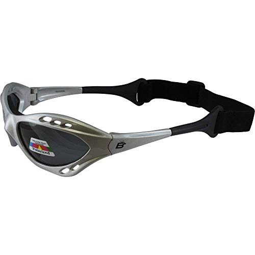 Silver Polarized Sunglasses Floating Water Jet Ski Goggles Sport Designed for the demands regularly encountered while Kite Boarding, Surfer, Kayak, Jetskiing, other water sports