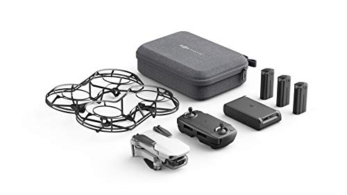 DJI Mavic Mini Fly More Combo Drone FlyCam Quadcopter with 2.7K Camera 3-Axis Gimbal GPS 30min Flight Time (White and Black)