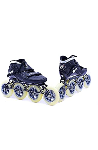 SPORTEC Professional Carbon Inline Speed Skates with 100mm Wheels Professional Kids Adult Skating Shoes Roller Skates