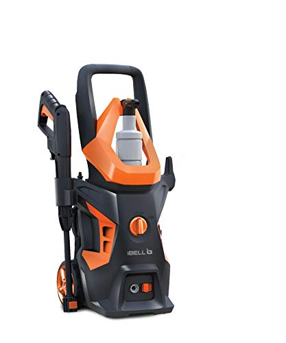 iBELL WIND55 Universal Motor 1600 W 130bar 7L/Min Flow High Pressure Washer for Cars/Bikes & Home Cleaning Purpose (Black & Orange)