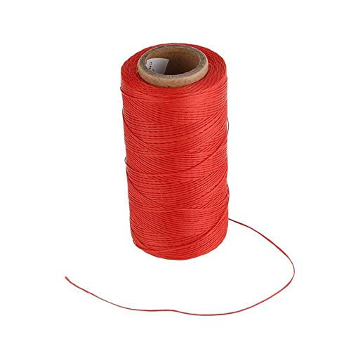 Asiatic Sewing Waxed Thread 260m Leather Sewing Waxed Thread 1MM for Leatherwork/Shoes/Fancy Thread/Saddles/Bags/Brief Cases/Gun Cases/and Luggage/DIY Crafts (Red)