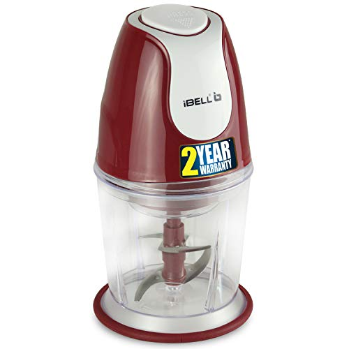 iBELL VC510SG Electric Vegetable & Fruits Cutter/Chopper, Twin Blade, Maroon - 200 Watts