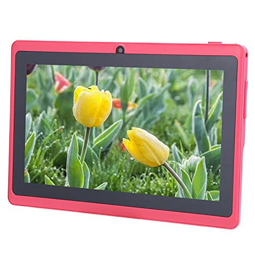 7 inch Toddler Tablet, Kids Computer with Dual Camera, Educational Children Tablet with Parental Control Quad Core Kids Edition Tablet with Pre-Loaded Apps/Kid-Proof Case, WiFi, Pink(EU)