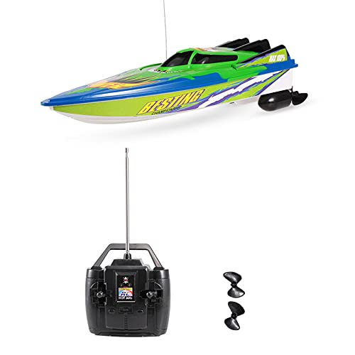 RC Boat High Speed Boat Radio Controlled Motor Boat, 20km/h Remote Controlled Toy Gifts for Children and Beginner, Remote Controlled Boat for Lakes and Pools