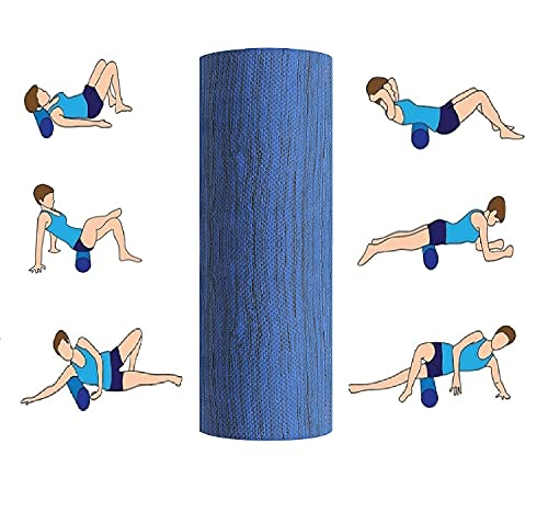 VIFITKIT® Fitness Massage Foam Roller for Deep Tissue Muscle Massage, Trigger Point Therapy, Exercise, and Workout. (Color may vary, Size: 12*4 inches) )