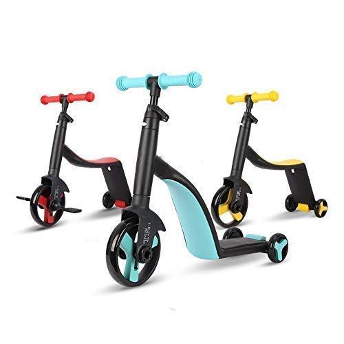 PAYPIN - Kids Kick Scooter, 3 Wheel Scooter | 3-in-1 Scooters | Kick Scooter Tricycle Balance Bike Toddlers For Girls And Boys | 3 Adjustable Height Balance Tricycle for Girls Boys 2-8 Years Old kids - [Pack Of 1 | Color May Very]