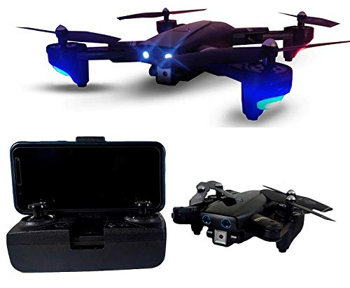 ARC Pioneer Foldable Drone with Dual Camera HD Wide Angle Lens | Optical Flow Positioning with 1200Mah Battery WiFi FPV 4-Axis Dual Camera Aerial Drone with Dual Flash Lights Remote Control Drone