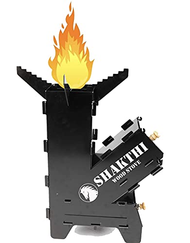 Shakthi Wood Stove Advanced Wood Burning Rocket Stove with Air Flow Control