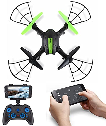 SUPER TOY Camera Drone 2.4 GHz Remote Control Quadcopter With Wi-Fi Connectivity & Extra Blades (Multicolor)