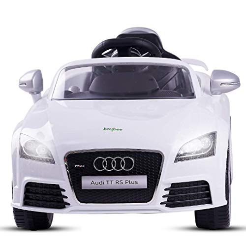 Baybee Licensed Audi TTRS Ride-On Baby Toy Car Rechargeable Battery Operated Ride-On Car For Kids To Drive Baby Car With Single Motor &6V Battery, Children Car For Boys & Girls Age 2 To 6 (White)