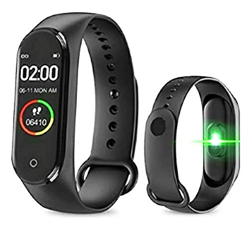 Rizzer M4 Intelligence Bluetooth Wrist Smartwatch Band with Activity Tracker, Bracelet Watch, Smart Fitness Band with Heart Rate Sensor Compatible All Androids iOS Phone