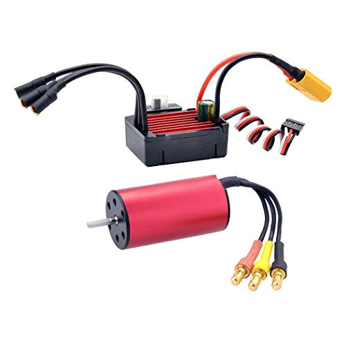 Fansport 3900KV Brushless Motor Fun Professional RC Car Accessories with 25A Waterproof ESC for 1/16 1/18 1/20 RC Car Truck