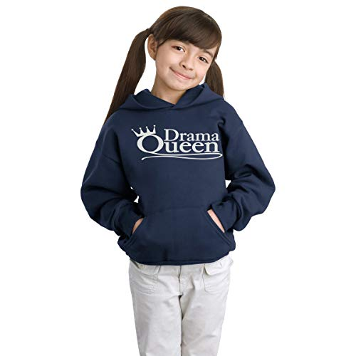 Crazy Prints Girl's Cotton Hooded Sweatshirt (CP-030119_Blue_12-13 Years)