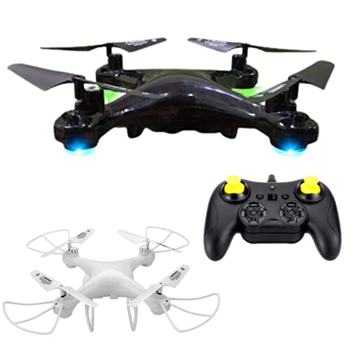 VEZIMON Drone Remote Controlled Drone Drone without camera Remote Quadcopter Altitude hold drone with LED Light- Multicolour Black or White
