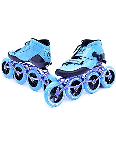 SPORTEC Professional Carbon Inline Speed Skates with 110 mm Wheels Professional Kids Adult Skating Shoes Roller Skates