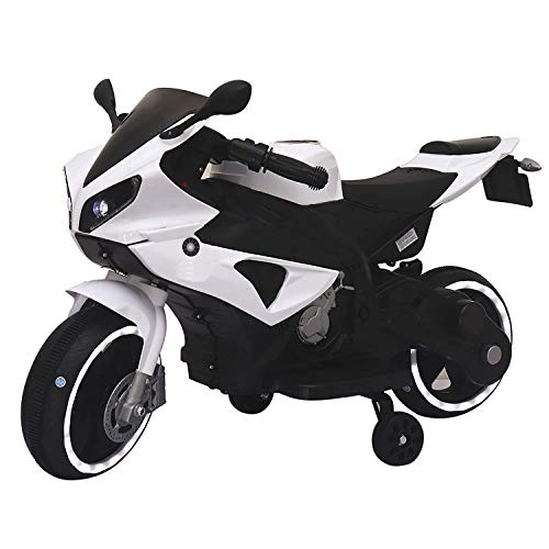 SRECAP Battery Operated Ride on Motorcycle Bike for Kids (1 to 4Years) White