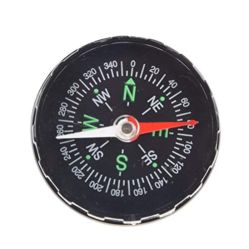 Hetkrishi 1 Pc Black Oil Filled Compass Excellent for Hiking, Camping and Outdoor