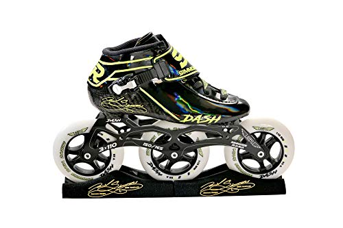 Simmons Rana Racing 3 x 110 Dash Inline Speed Skates Complete Package (Black-Red, 5.5)