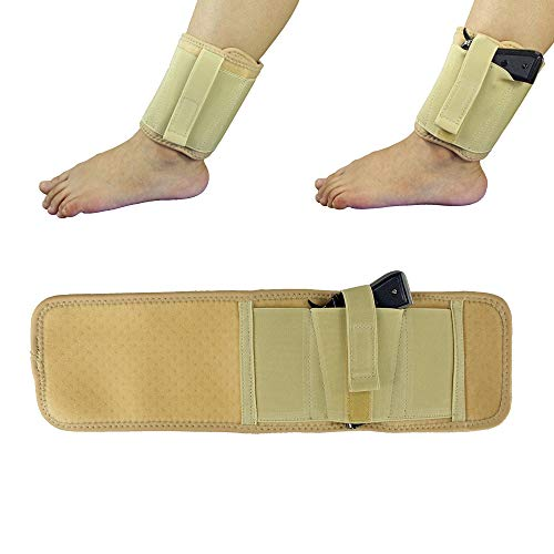 GunAlly Elite Duty Concealed Carry Pistol Ankle Holster Ventilated Neoprene Ambidextrous