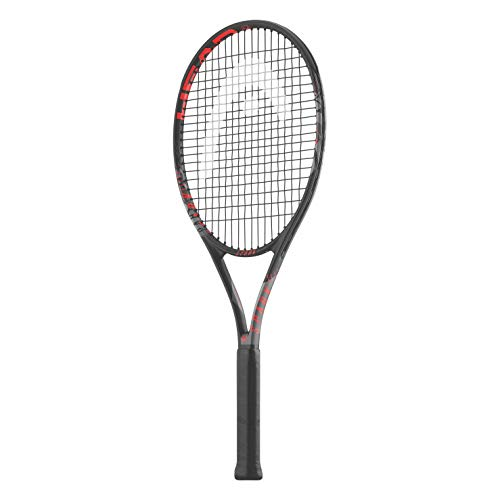 HEAD Spark Elite MX Graphite Tennis Racquet with Full Cover   Pre Strung   Size: 4/3-8   Lightweight : 265 gm   Black  