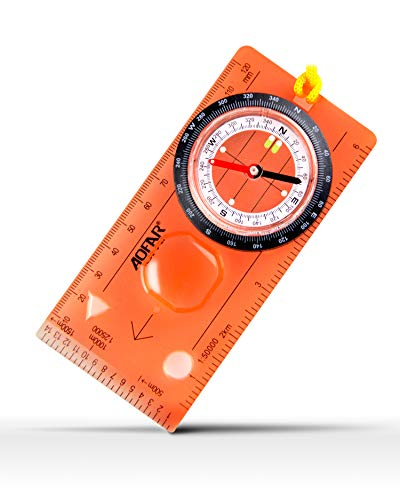 AOFAR Orienteering Compass for Hiking, Boy Scout Compass for Kids - Professional Field Compass for Map Reading,Navigation and Survival Lightweight - Mini Camping Compass