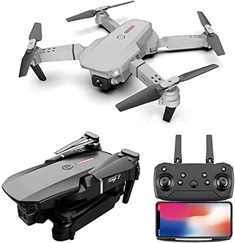 Amitasha 1080p 4k Wi-Fi Foldable Dual Camera Selfie Drone Flying Quadcopter with Visual Positioning and 3 Speed Mode