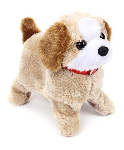 Adlon Barking, Waging Tail, Walking and Jumping Puppy Baby Toy, Battery Operated Back Flip Jumping Dog with Sound and Music Best Gift for Toddlers and Kids