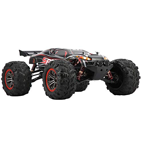 1/10 Remote Control Car, All Terrain RC Car, High Speed Brushless RC Car Model Remote Control Electric Off‑Road Vehicles with Better Controllability, 2.4G 60KM/H Land Speed