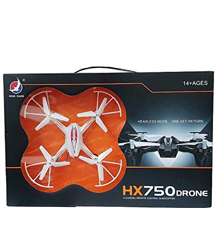 Plastic Remote-control Quadcopter With Two Extra Blades, Multicolour, Only For 14+, 1 Hx 750 Toy Drone, 1 3.7v 220mah Battery, 1 Transmitter, 2 Propeller, 1 Manual.