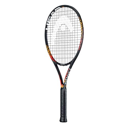 HEAD Spark Pro MX Graphite Tennis Racquet with Full Cover   Pre Strung   Size: 4/3-8   270 gm, Lightweight and Powerful   Orange  