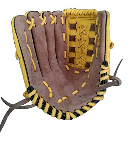 ANS Baseball/Softball Gloves/Catcher's Mitts Mens Size Geniune Leather Hand Made for Right Hand