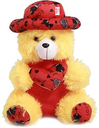 OSJS Toys Very Soft 12 Inch Lovable/Huggable Teddy Bear with Neck Bow for Girlfriend Gift/Boy/Girl Color Yellow