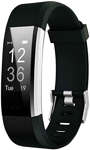 Adlynlife ID Plus Bluetooth Smart Fitness Band Watch for Men/Women with Heart Rate Activity Tracker | Steps and Calorie Counter, Blood Pressure, Distance Measure, OLED Touch Screen (Black) (Black)