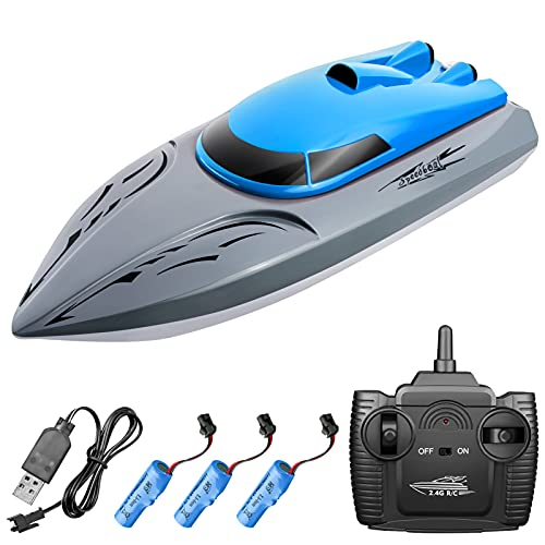 Decdeal 806 2.4G RC Boat Remote Control Boat 20KM/h Waterproof Toy High Speed RC Boat Racing Boat Gift for Kids