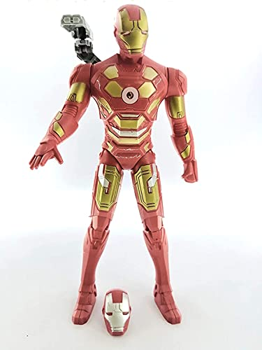 Maha Shakti Avengers Super Hero Series 12 Inch Action Figure with LED Light and Sound Effects 30 cm Avengers Toys for Kids Red (Iron Man)