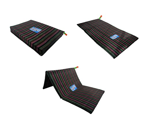 PumPum EPE Foam 3 Fold Single Bed, Foldable, Light Weight Mattress (1 Sleeping Capacity, 3 x 6 ft or 72 x 36 Inch,Mix Color)