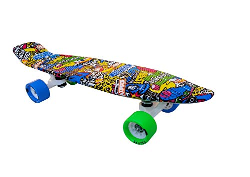 jaspo Fiber Composite Cruiser Magneto Penny Board (22'X5.5' Inches Suitable for Age Group Up to 12 Years)