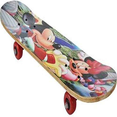 FCE Best Multicolor Skate Board Designed with a Pro Pattern, Skating Board Suitable for Kids and Adults, 24 X 6 inches