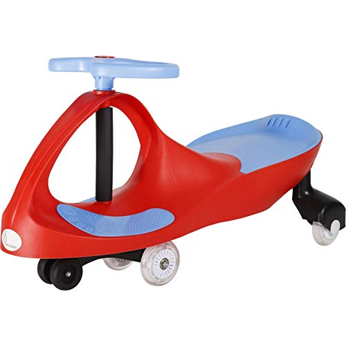 R for Rabbit Iya Iya Magic Swing Car for Baby | Twister Ride On Car | Magic Toy Car for Kids | 120 Kgs Weight Capacity | 3+ Years with Scratch Free Wheels (Red Blue)